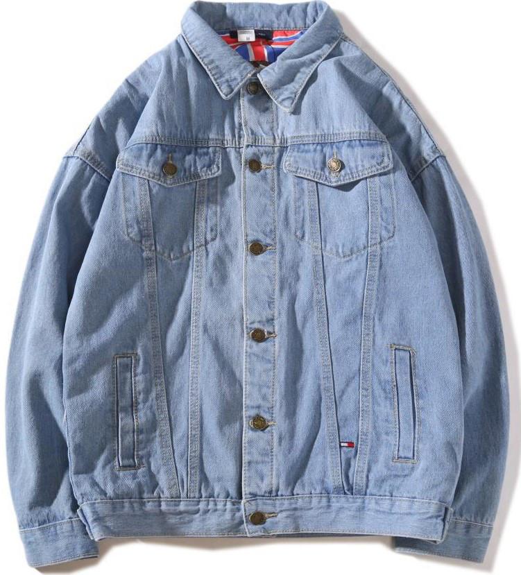 Джинсовая куртка Tommy Hilfiger (Хилфигер) светло-синяя 02e1e0546abdf