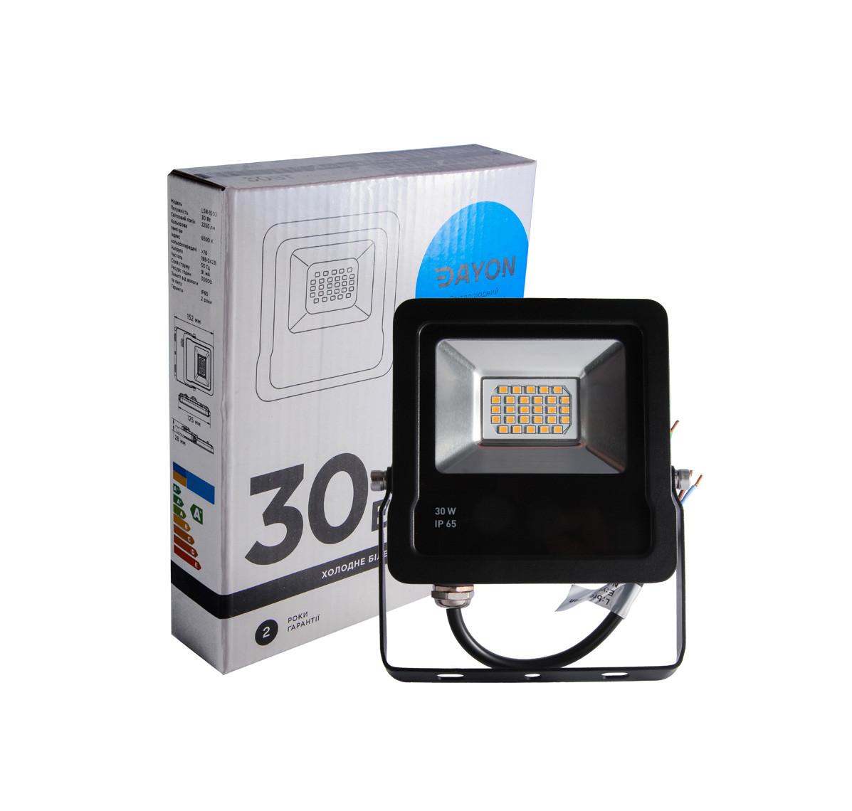 Прожектор светодиодный уличный DAYON LSR-1503 30W 6500K IP65