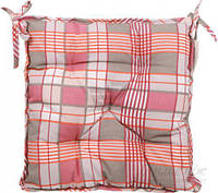Подушка на стул Шато 40x40 см клетка розовая La Nuit