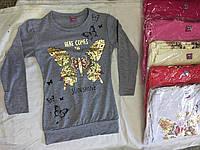 Батник для девочки на 6-10 лет красного, серого, розового,белого цвета оптом