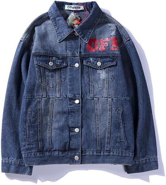 Джинсовая куртка Off-White (Офф Вайт) синяя