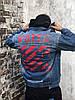 Джинсовая куртка Off-White (Офф Вайт) синяя, фото 7