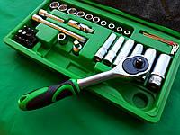 "Набор накидных головок и комплектующих на 36 единиц. ""InterTool Semi Professional series"". (4-13мм) 1/4""., фото 1"