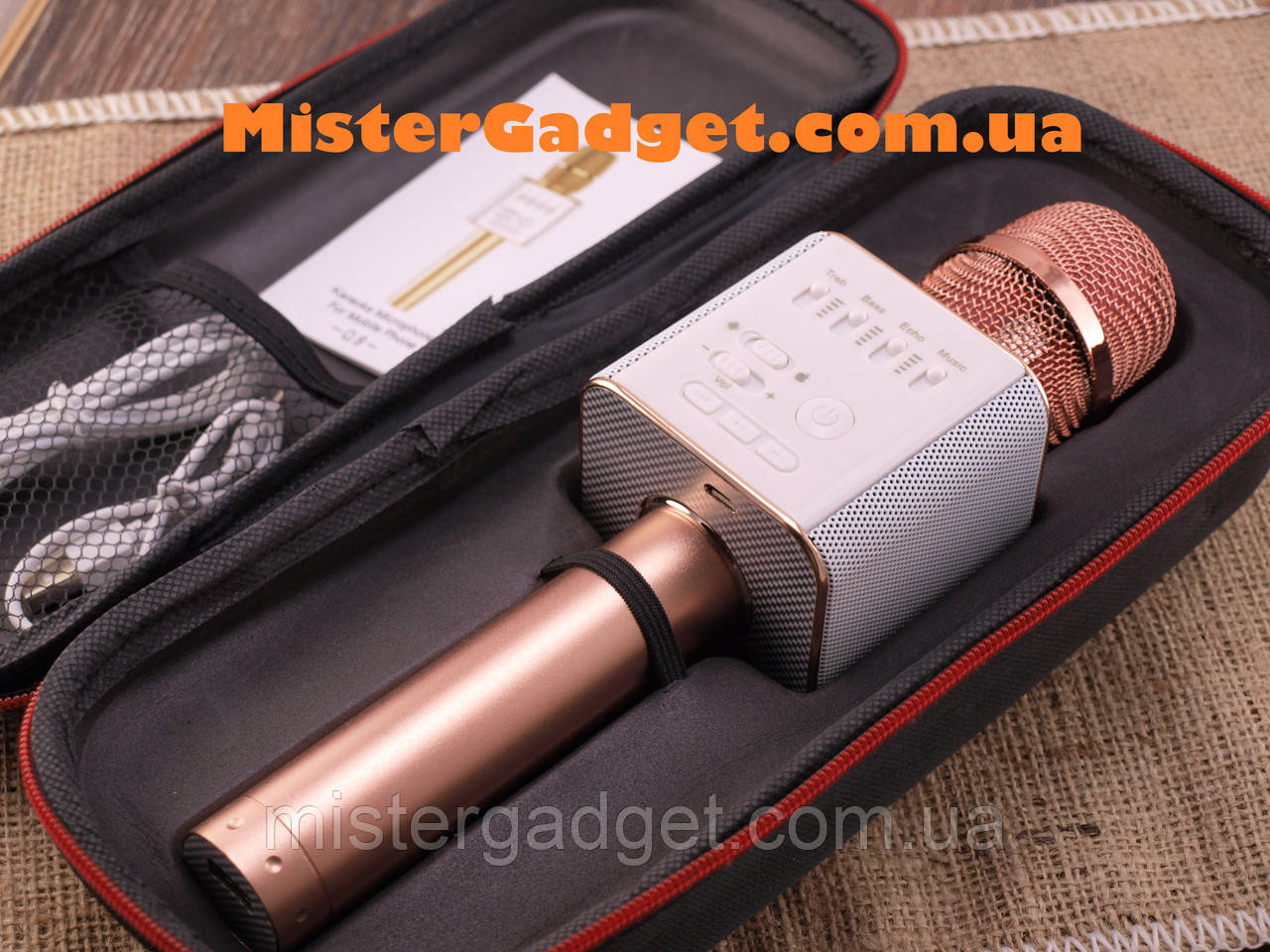 Микрофон для караоке Q9 Колонка блютуз