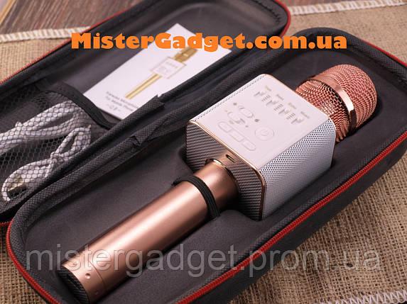 Микрофон для караоке Q9 Колонка блютуз, фото 2