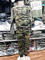 Спортивный костюм для мальчика на 9-12 лет защитного цвета оптом