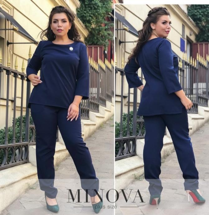 Классический костюм- двойка недорого в Украине интернет-магазин Минова р. 50-58