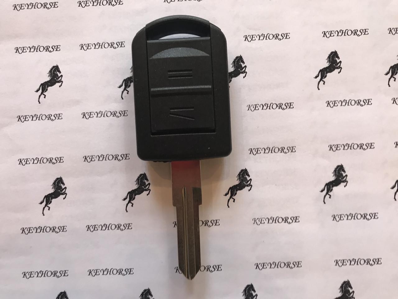 Корпус авто ключа для Opel Combo, Corsa (Опель Комбо, Корса) 2 кнопки, лезвие HU46
