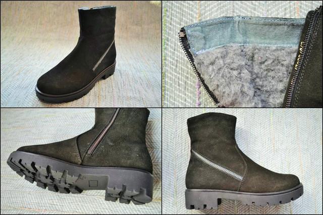Зимние замшевые ботинки женские Eleven Shoes фото