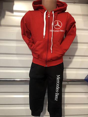 Спортивный костюм для мальчика р. 92-116 черный+красный, фото 2