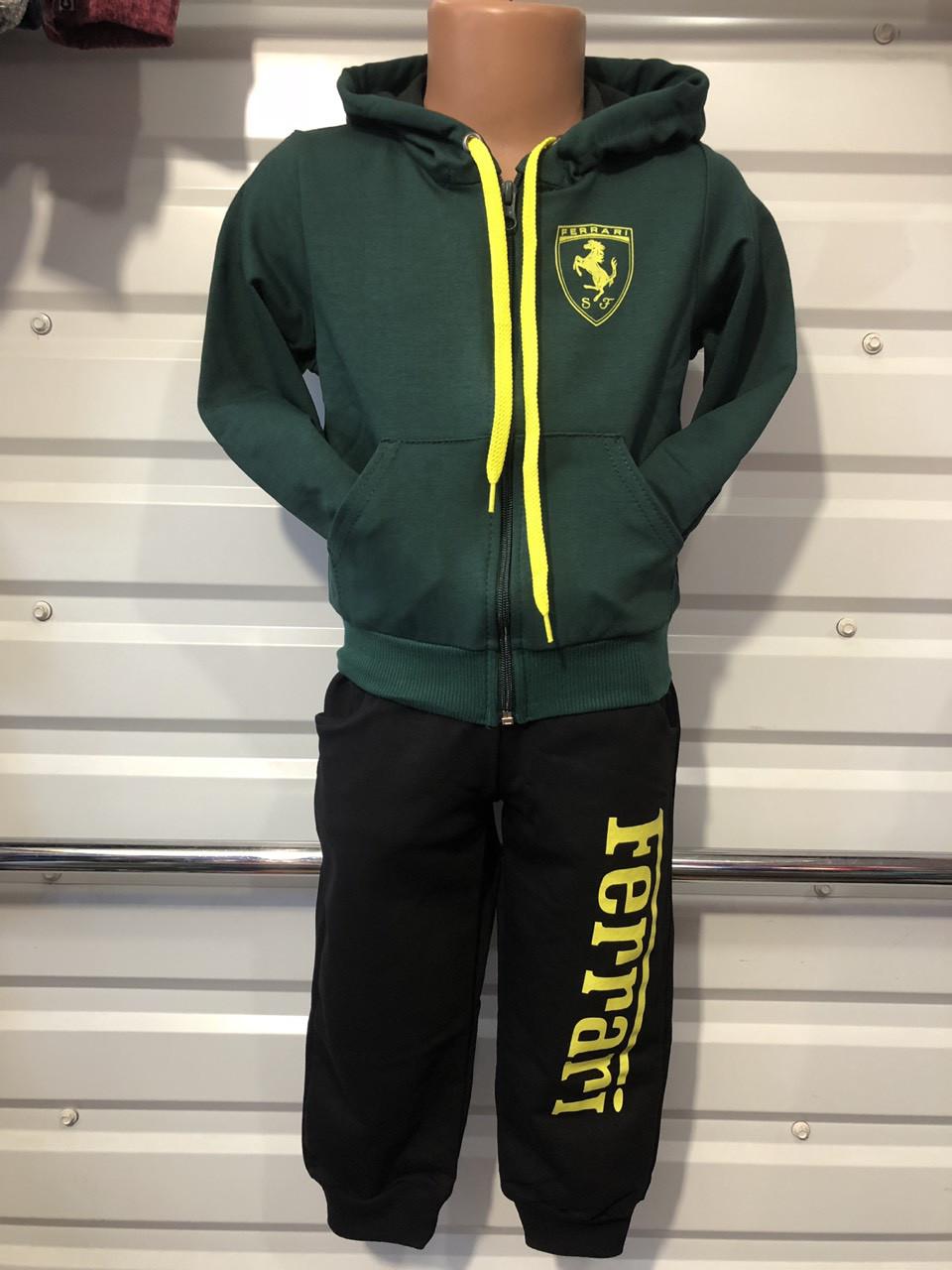 Спортивный костюм для мальчика р. 92-116 черный+зеленый