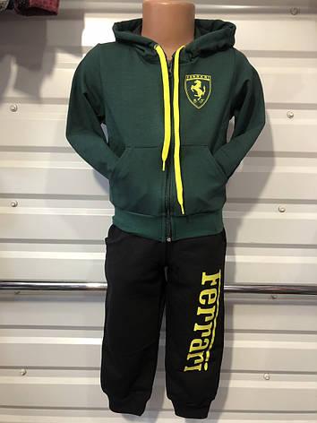 Спортивный костюм для мальчика р. 92-116 черный+зеленый, фото 2