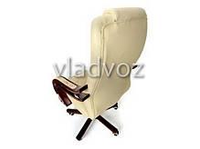Кресло компьютерное офисное на прорезиненных колесиках Calviano Prezydent бежевый, фото 3
