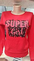 Модный реглан на девочек 152,158,164,170 роста SUPER GIRL