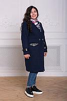Пальто без воротника большого размера, фото 1