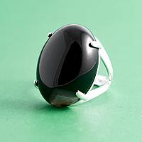 Агат черный, 25*18 мм., серебро 925, кольцо, 916КЦА
