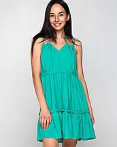 Женское летнее свободное платье на бретельках (Регина mrb), фото 3