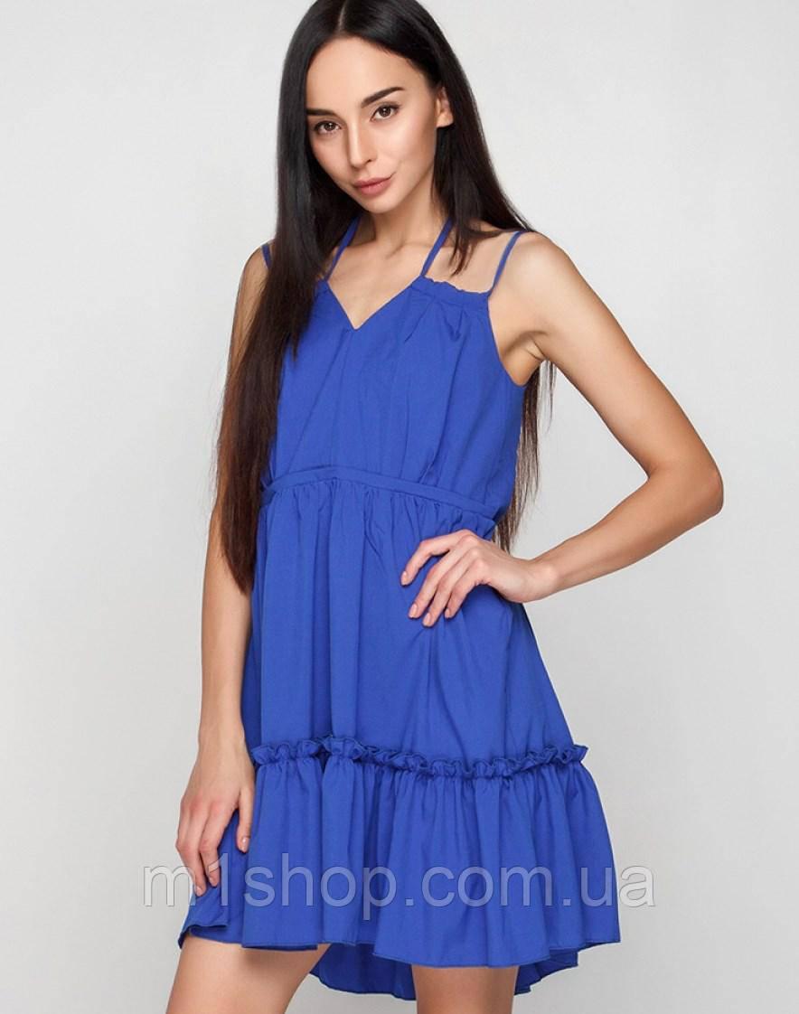 Женское летнее свободное платье на бретельках (Регина mrb)
