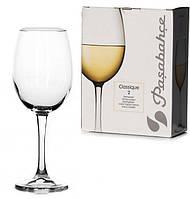 Набір келихів для вина Pasabahce Classique білого 2 штуки 360мл скло (440151)