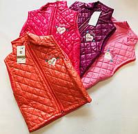 Жилетка для девочки 5-7 лет бордового, красного,розового цвета оптом