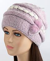 Зимняя женская шапочка Марьяна цвет фуксия