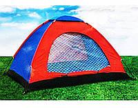 Всесезонная Туристическая Палатка HYZP-03 Однослойная на 4 Человека для Рыбалки и Кемпинга, фото 1