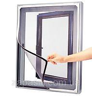 Москитная Сетка от Комаров для Окна на Липучке, фото 1