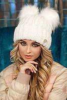 Зимняя женская Шапка «Людисия» Белый