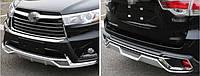 Накладки на бампер (перед+зад) Toyota Highlander 2014+ г.в.