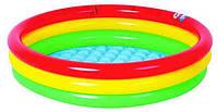 Пляжный Надувной Детский Бассейн Яркий Солнечный Закат для Купания и Отдыха от 1 до 3 Лет