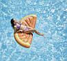 Пляжный Надувной Матрас для Плавания и Отдыха Апельсин 178 х 85 см Лежак в Виде Дольки Апельсина, фото 4
