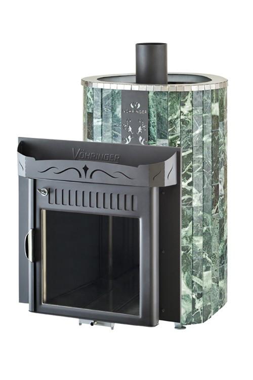 Дровяная печь для сауны Ферингер Ламель Оптима облицовка Змеевик Обрамление Металл (открытая каменка)