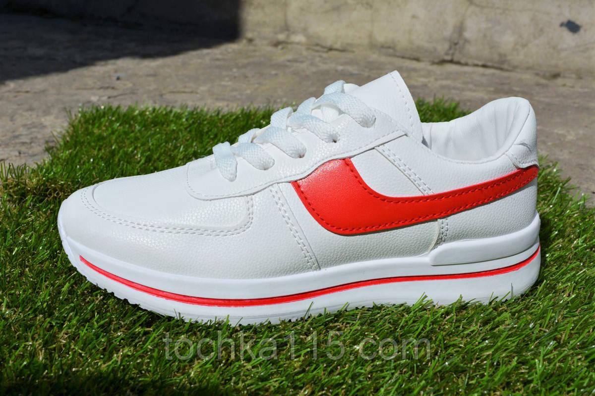 Женские кроссовки Nike белые кожа, копия