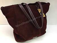 bb4384cbdd80 Шикарная женская сумка (сумочка ) из натурального замша цвет марсала 1735