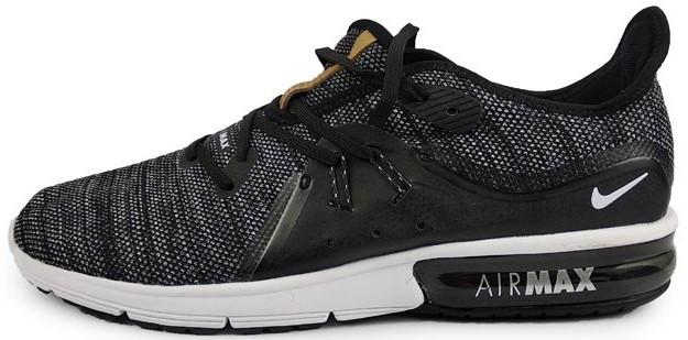 "Мужские кроссовки Nike Air Max Sequent ""Black/White"" (Найк Аир Макс) черные"