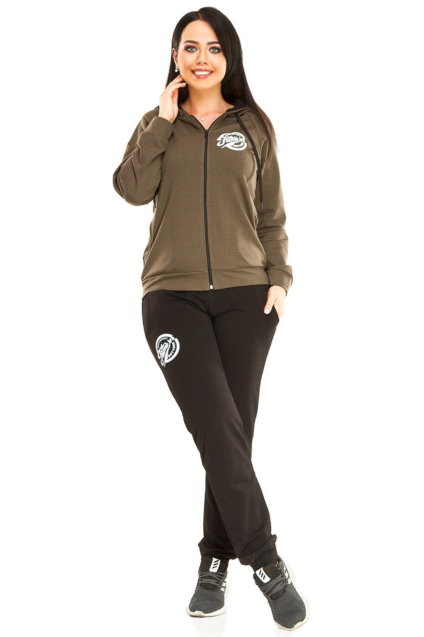 Спортивный костюм, двухнитка Оливковый размер 50