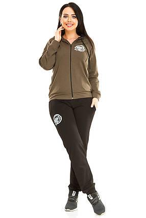 Спортивный костюм, двухнитка Оливковый размер 50, фото 2