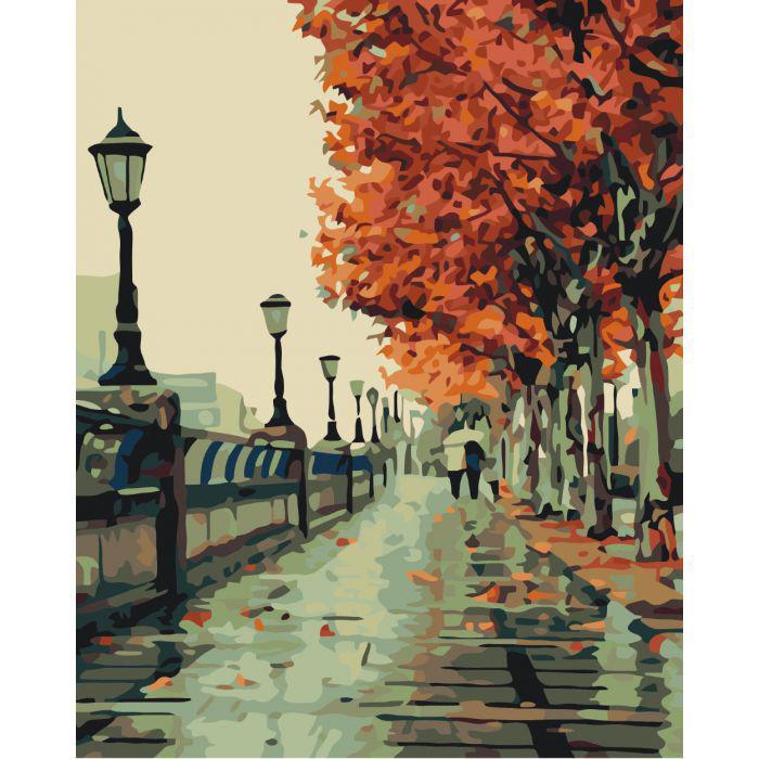 """Картина по номерам 50х40 """"Осенний сквер"""""""