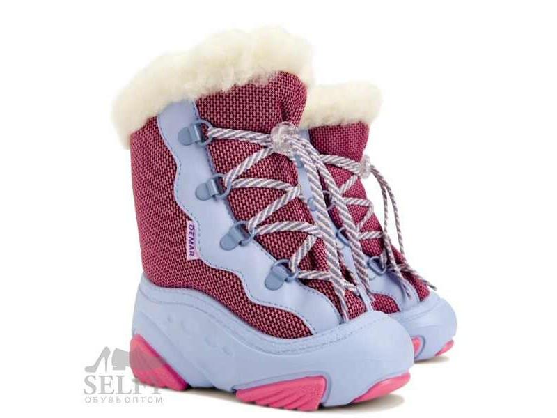 SNOW MAR РОЗОВЫЙ 20-21 сапоги демар розовые