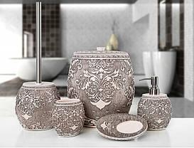 Комплект в ванную Irya - Adore pembe розовый (5 предметов)