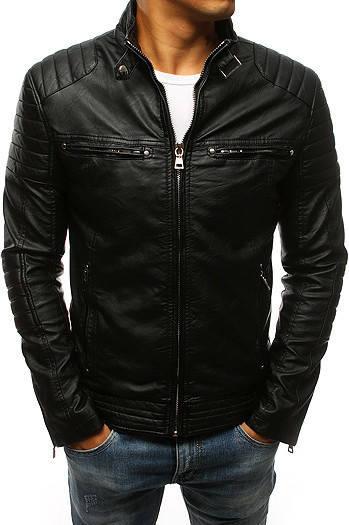 Мужская куртка эко-кожа №2 Чёрный