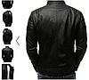 Мужская куртка эко-кожа №2 Чёрный, фото 2
