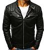 Мужская куртка эко-кожа №1 Чёрный