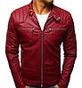 Мужская куртка эко-кожа №1 Чёрный, фото 5