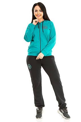 Спортивный костюм, двухнитка зеленый, фото 2