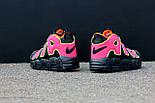 Мужские кроссовки  Nike Air More Uptempo Black/Orange/Hot Punch-Volt. Живое фото (Реплика ААА+), фото 6