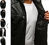 Мужская куртка эко-кожа №4 с капюшоном, фото 5