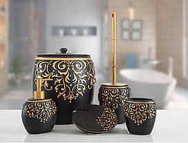 Комплект в ванную Irya - Flossy siyah черный (5 предметов)