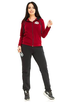 Спортивный костюм, двухнитка бордо размер 50, фото 2