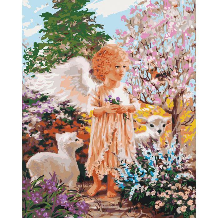 "Картина по номерам 50х40 ""Ангел в лесу"""